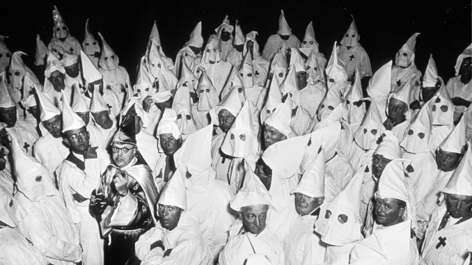 Ku Klux Klan (KKK) meeting, South Carolina, 1951.© Heirs of W. Eugene Smith