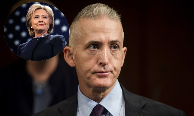Trey Gowdy and Hillary Clinton