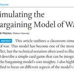 Simulating the Bargaining Model of War