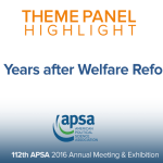 Theme Panel: 20 Years after Welfare Reform