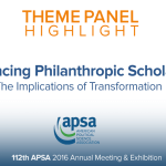 Theme Panel: Advancing Philanthropic Scholarship: The Implications of Transformation