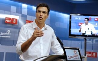 PEDRO SÁNCHEZ (PSOE) SE REUNE CON MILITANTES PSN EN PAMPLONA