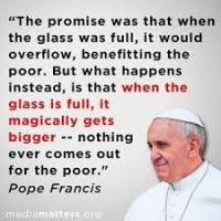Pope trickle down