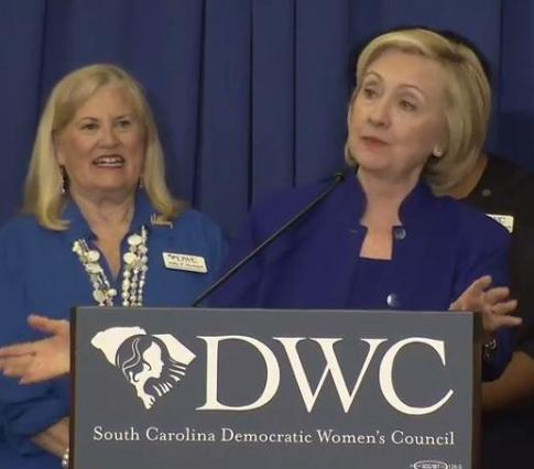Hillary Clinton speaks in South Carolina
