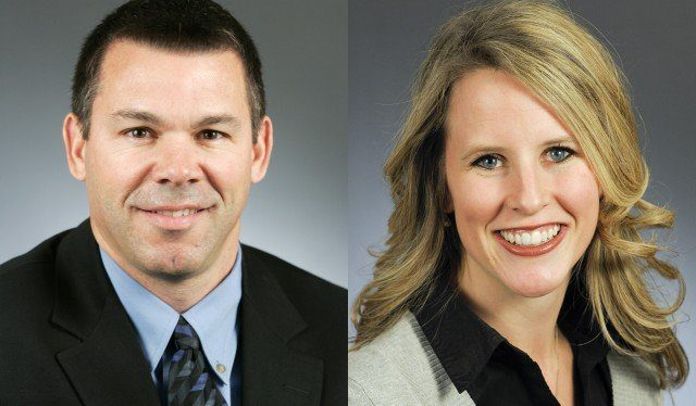 Tim Kelly, R-Red Wing, left, and Rep. Tara Mack, R-Apple Valley (Courtesy of Minnesota House of Representatives)