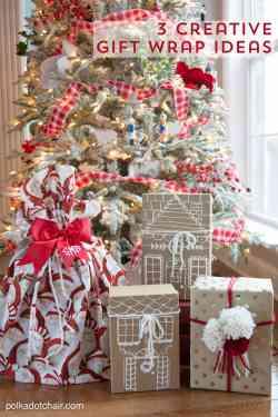 Comely Gift Wrap Ideas Friends Gift Wrap Ideas Polka Dot Chair Gift Ideas Guys Gift Ideas