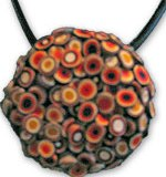 Alex Pier's extruded polymer pendant