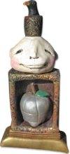 Blackford's tin apple polymer clay shrine