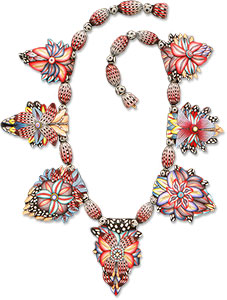 Michael and Ruth Anne Grove polymer necklace 1994