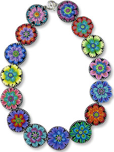 Kim Korringa's polymer fantasy flowers