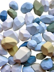 Lunger's faceted polymer beads