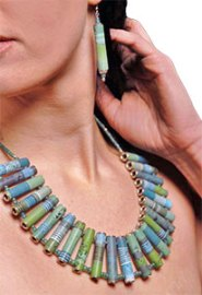 Orlowski's tribal necklace in polymer clay