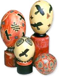 Margaret Regan's polymer eggs