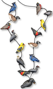 Tayler's polymer bird necklace