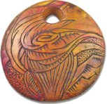 Watkins etched bead