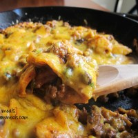 ground beef and black bean enchilada skillet