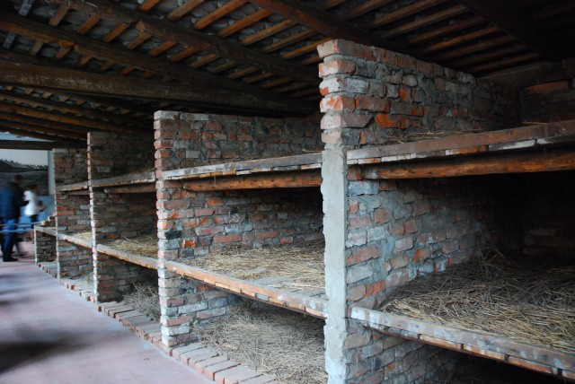 Reconstruction of Brick Barracks at Auschwitz