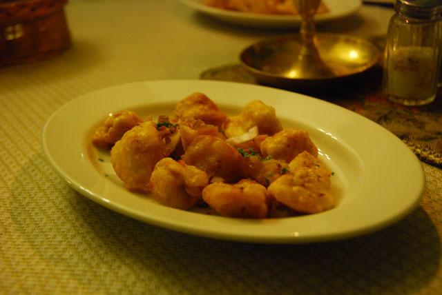Pierogi meat dumplings at Ariel Restaurant