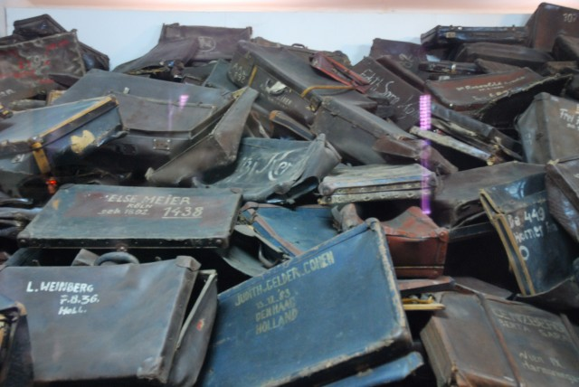 Suitcases at Auschwitz