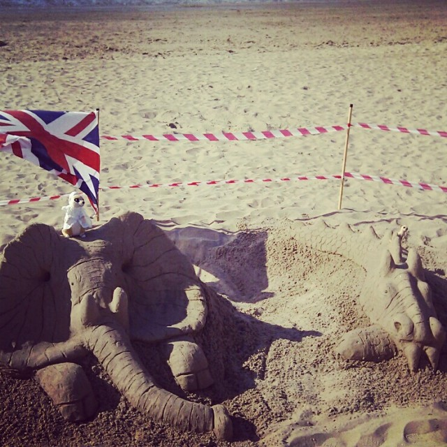 Sand Sculptures on the Beach in Morecambe
