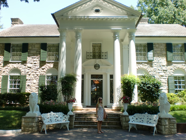 Elvis's Graceland Mansion in Memphis Tennessee