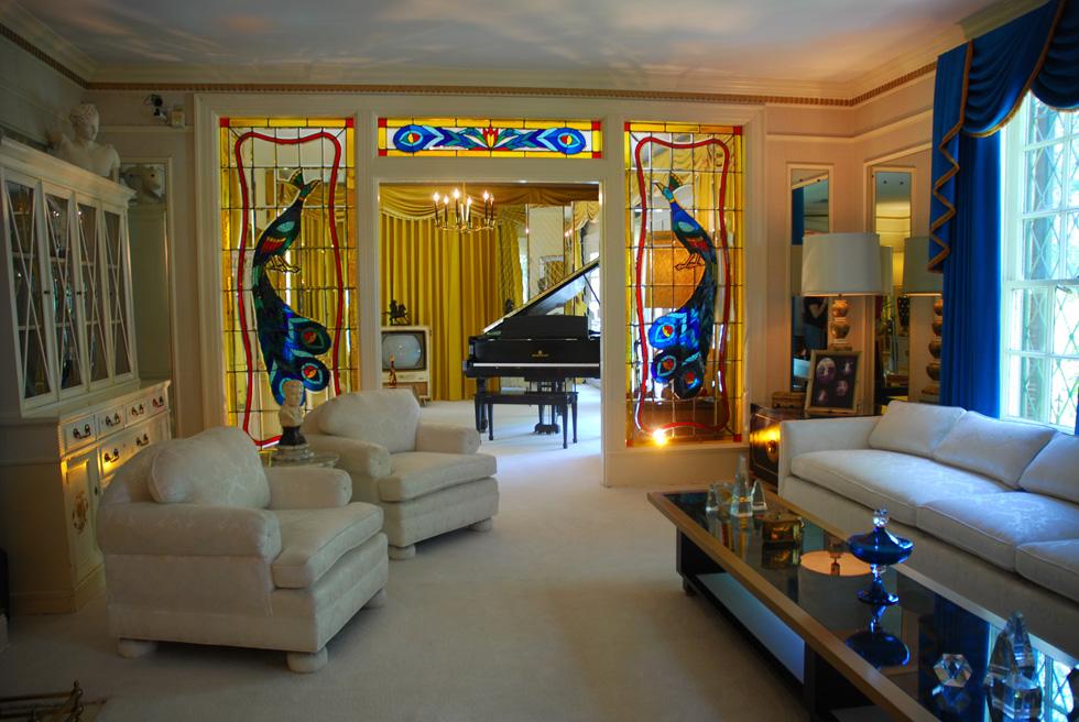 Elvis Presley Graceland Mansion Living Room