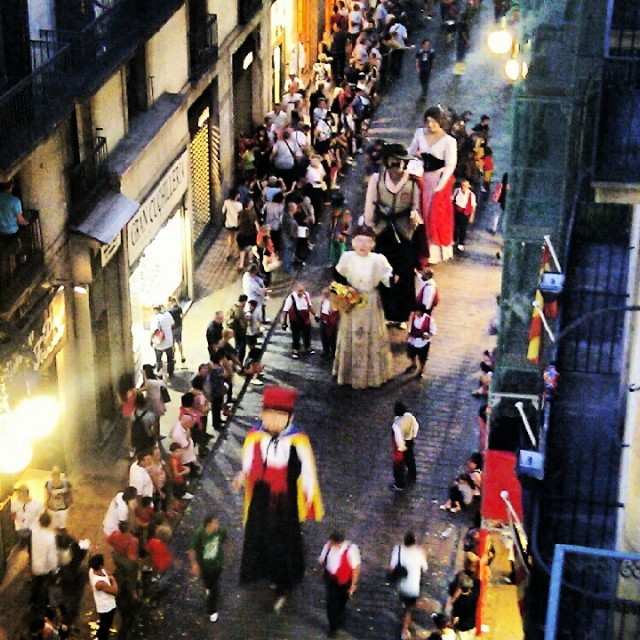 La Merce Festival Barcelona Giants Parade 2012
