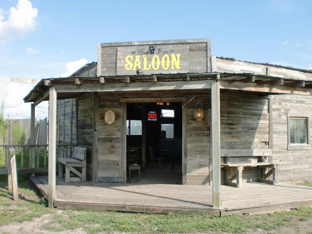 Cowboy Saloon at J Lorraine Ghost Town, Austin, Texas
