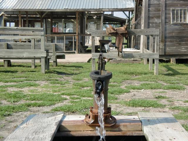Water Pump at J Lorraine Ghost Town in Austin, Texas