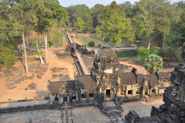 View from the top of Baphuon Temple, Angkor, Cambodia