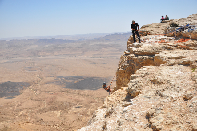 Rappelling Ramon Crater in Israel