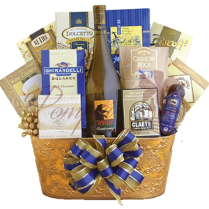Golden Chardonnay Wine Gift Basket