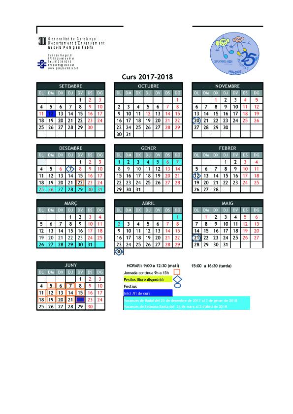 CALENDARI 17-181