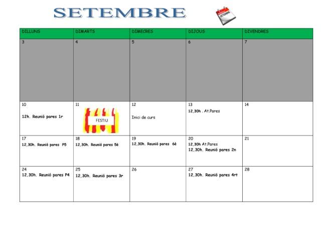 PLANIFICACIÓ SETEMBRE 18-19