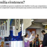 Article Setembre: Escola i família s'entenen?