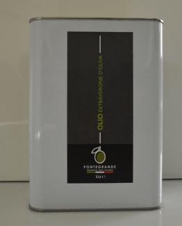 latta da 5lt latta da 3lt bottiglia 0,75 lt bottiglia 0,5lt Olio Extravergine Pontegrande Olive Ulivo Puglia Salento Gusto