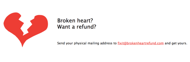 broken heart refund