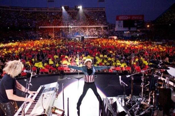 Mosaico Concierto Bon Jovi 2013 Madrid. Imagen: RollingStone