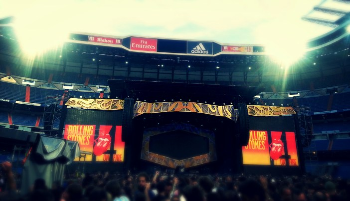 Escenario Rolling Stones. Gira 14 on fire