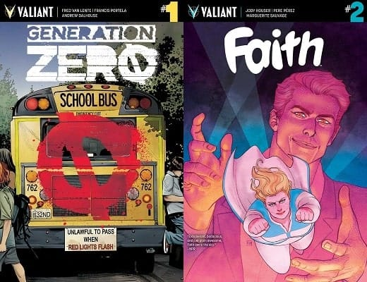 """THE FUTURE OF VALIANT"" Reloads w/ New Printings for 'GENERATION ZERO' #1 and 'FAITH' #2! (10/19)"