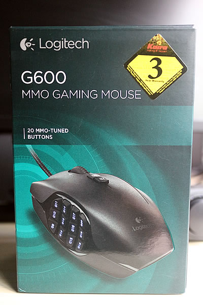 Logitech G600 MMO Gaming Mouse Box