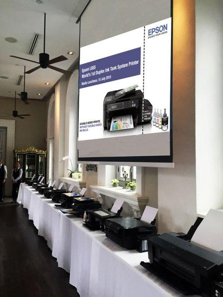Epson's full range of L-Series ink tank system printers