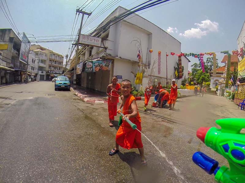 Songkran Monks