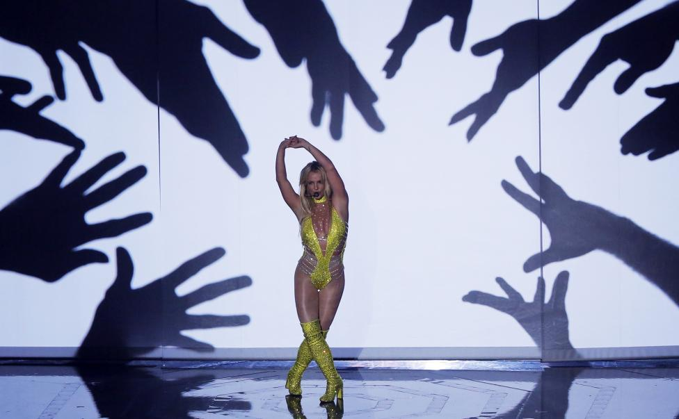 Britney Spears performs. REUTERS/Lucas Jackson