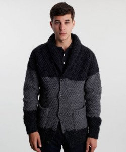 Folk Hand Knit Moss Stitch Cardigan