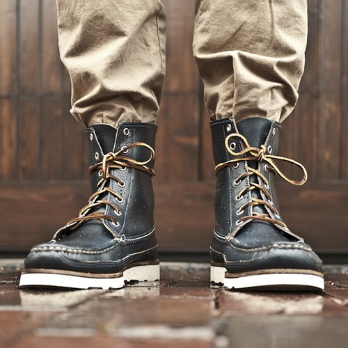The Want | Oak Street Bootmakers Navy Hunt Boot