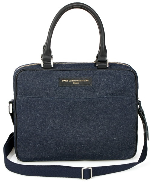 Want Les Essentiels De La Vie Haneda Denim Laptop Bag