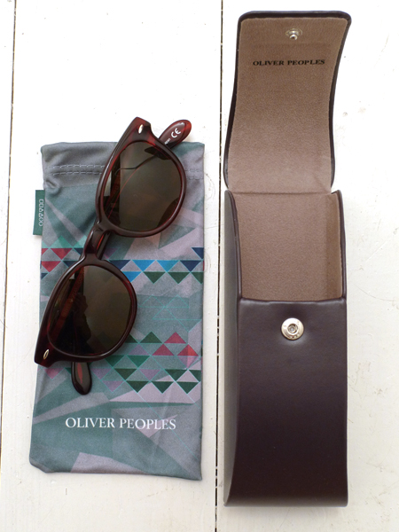 Oliver Peoples Red Havana Sheldrake Sunglasses