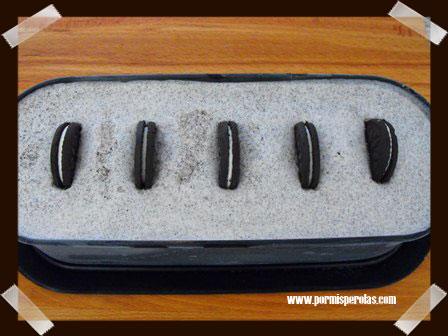 Congelar y poner las galletas