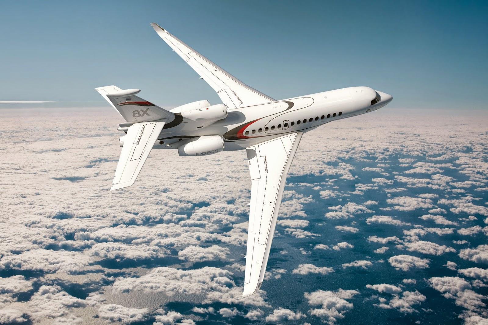 Dassault dévoile le Falcon 8X